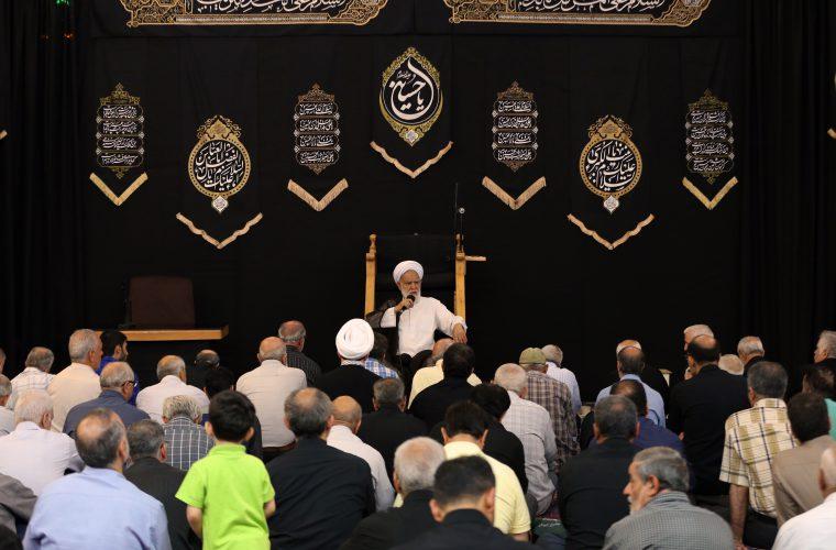 تصاویر/ عزاداری شب اول محرم ۱۳۹۸ مسجد جامع ابوذر دارالشهدای تهران