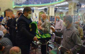 گزارش تصویری/ مراسم پرچم گردانی توسط خادمین حرم رضوی در مسجد جامع ابوذر