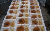 توزیع غذای گرم مرحله چهلم